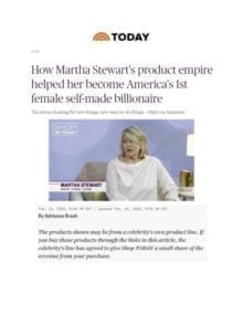 How Martha Stewart's Product Empire Helped Her Become America's 1st Female Self-Made Billionaire