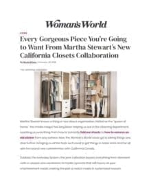 Every Gorgeous Piece You're Going to Want from Martha Stewart's New California Closets Collaboration