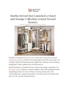 Martha Stewart Just Launched a  Closet and Storage Collection Aimed at Renters