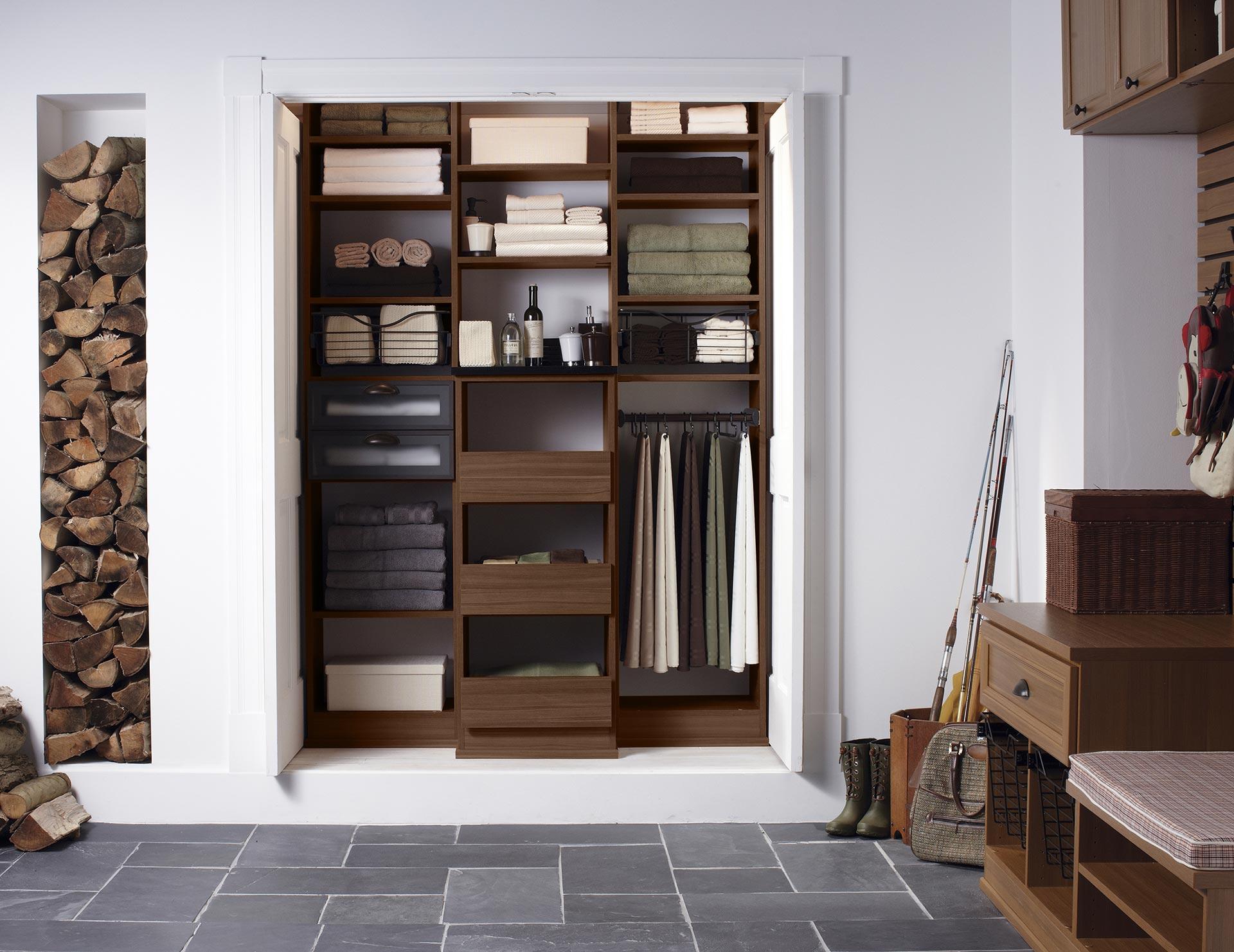 California Closets Eau Claire - Becker Hall Closet Storage Solution