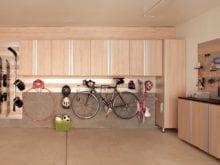 Space saving storage cabinets in garage