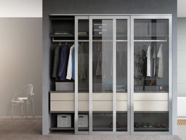 MILANO REACH-IN W/DOORS