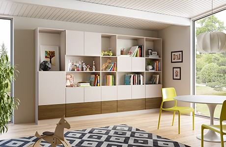 Custom Modern Family Room Storage Design | California Closets