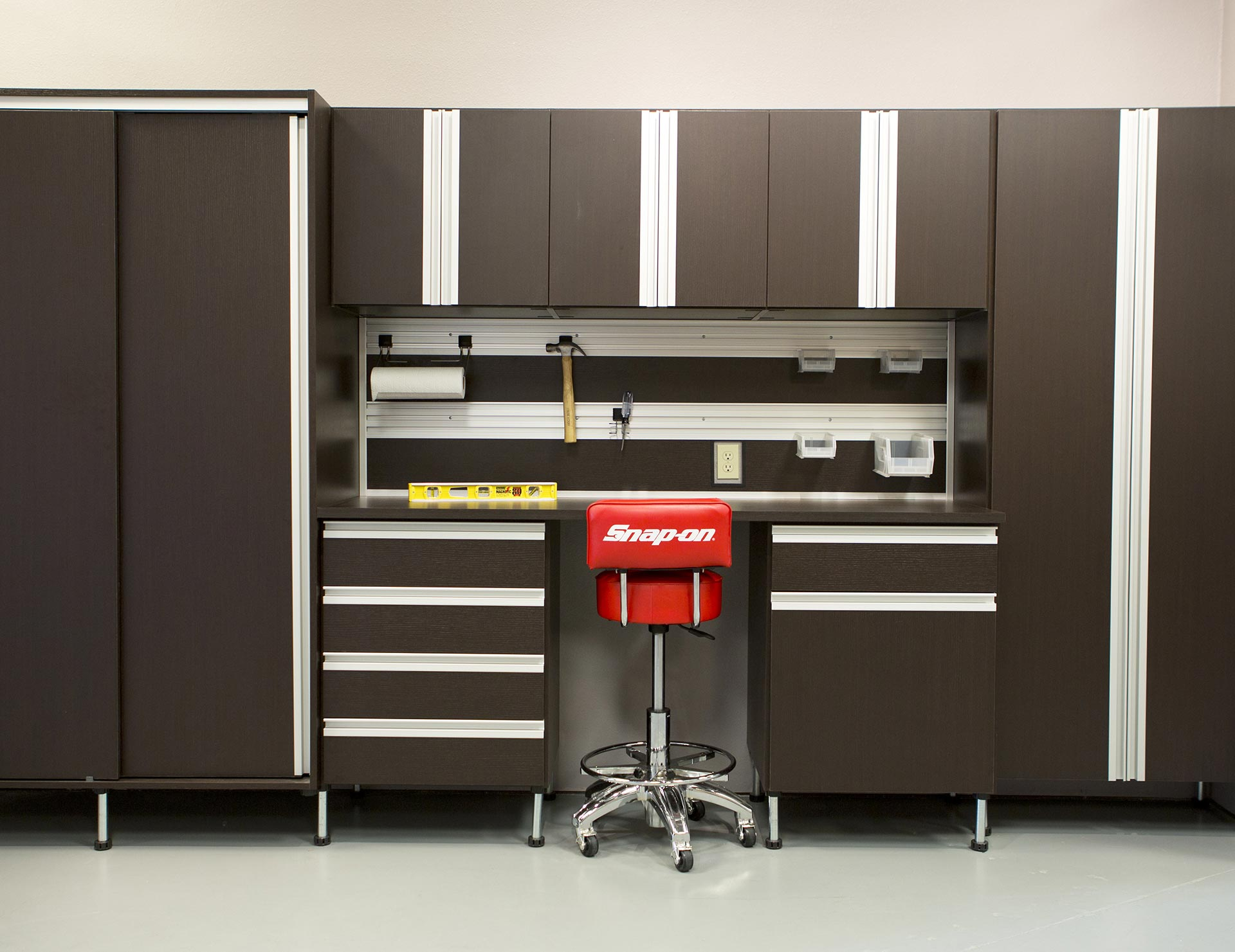 Pleasing Garage Workbench And Storage Solutions California Closets Interior Design Ideas Apansoteloinfo