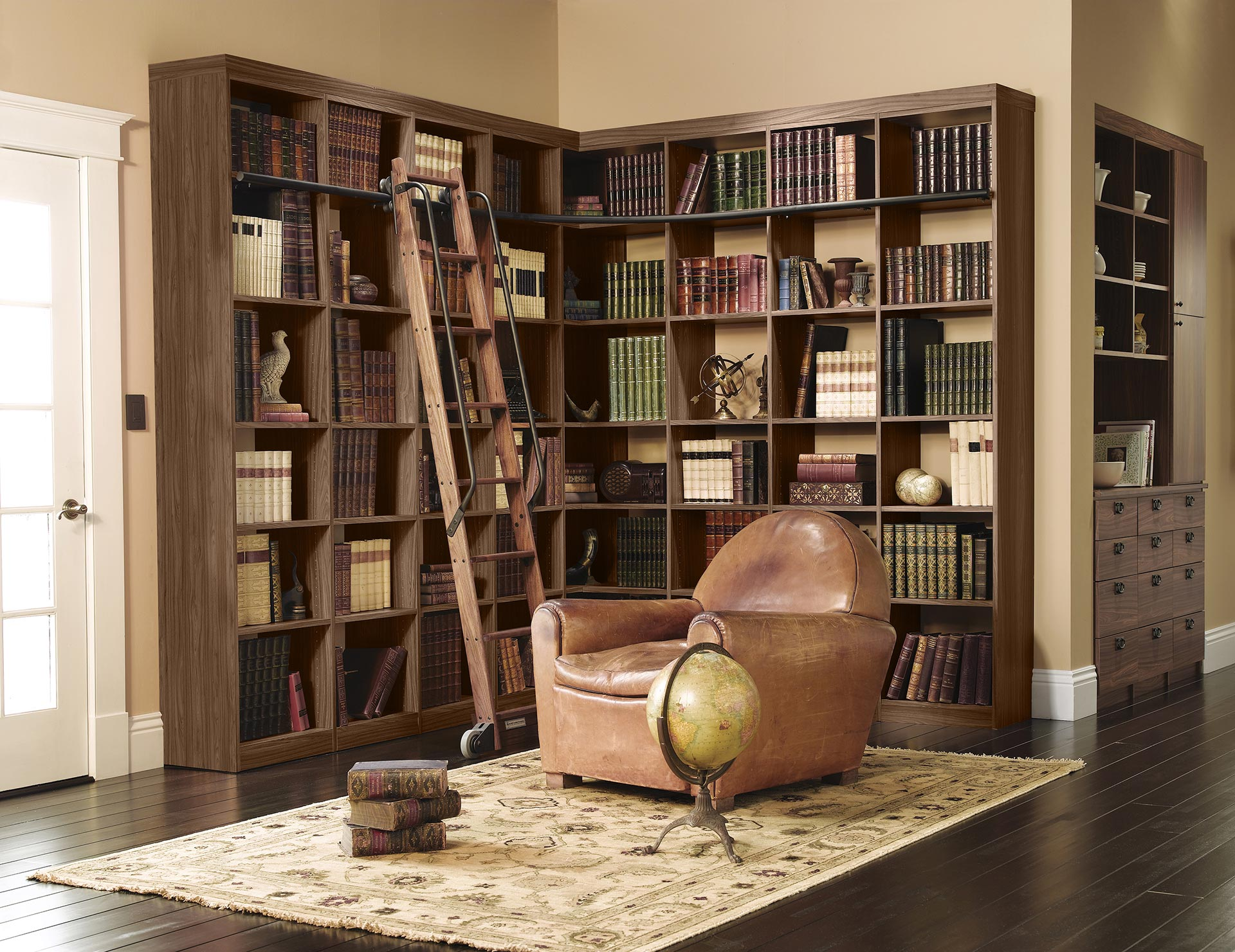 Home Library Custom Bookcases Amp Shelves California Closets