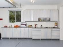 Garage Storage Cabinets in white