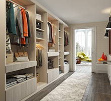 California Closets storage solutions for walk in closets