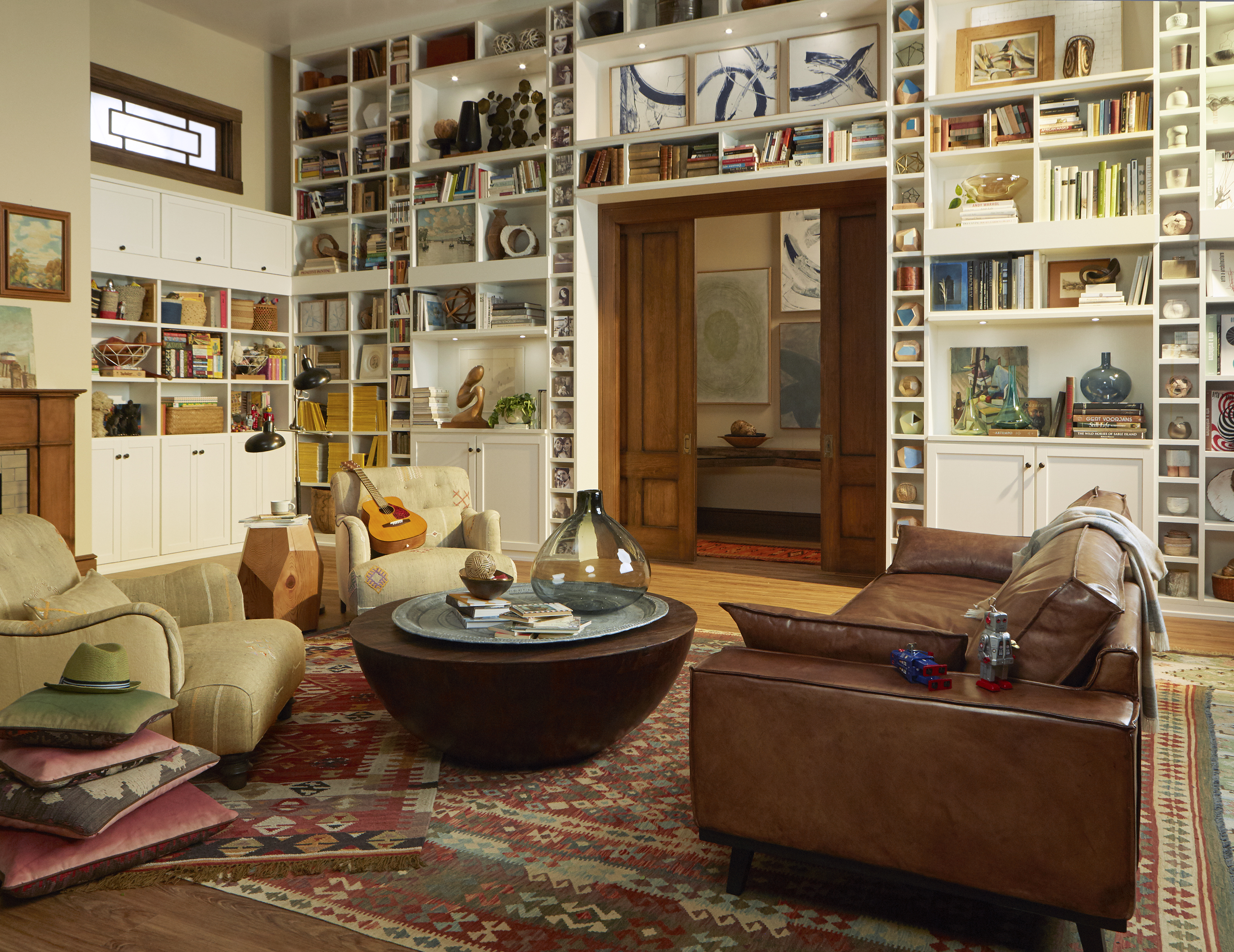 Home Library Custom Bookcases Shelves California Closets