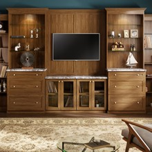 cape-cod-living-room-entertainment-center-lago-sorrento-miter-shaker-glass-inserts-thumb