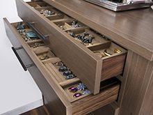 Erica Coffman Designer Gallery Close Up Dark Brown Jewerly Storage Dresser