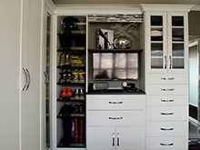 White Walk in Closet Storage with Shoe Rack Drawers Cabinets and Wardrobe