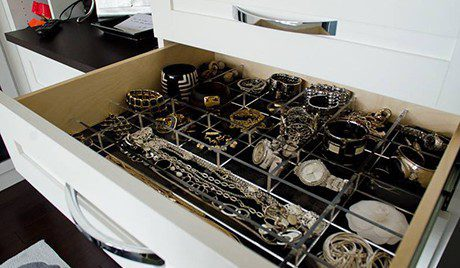 Close Up What Dresser Drawers with Jewelry Organizers