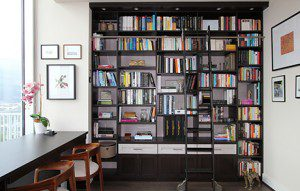 A Lavish - and Multifunctional - Library with a City View