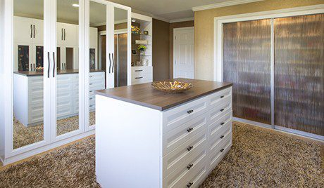 Custom Dressing Room Products From California Closets