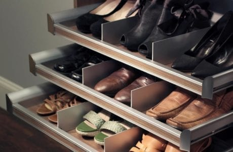 California Closets - Shoe Storage