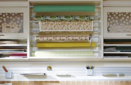 California Closets - Craft Room Accessories and Wrapping Paper Rails