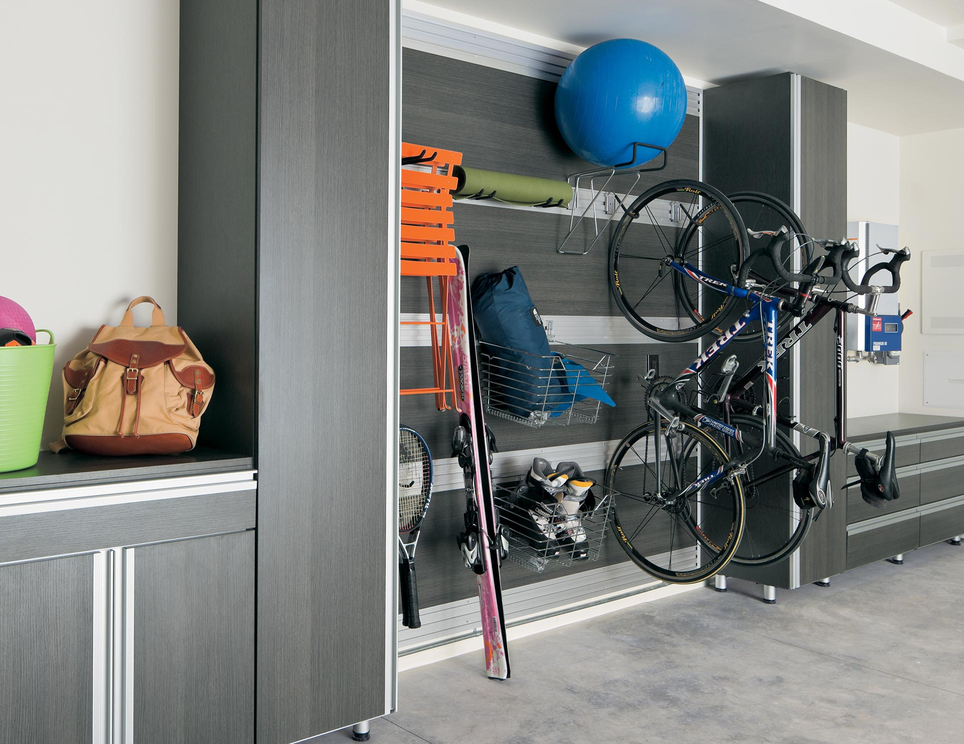 California Closets Detroit - Garage Storage with Fusion Track Wall System
