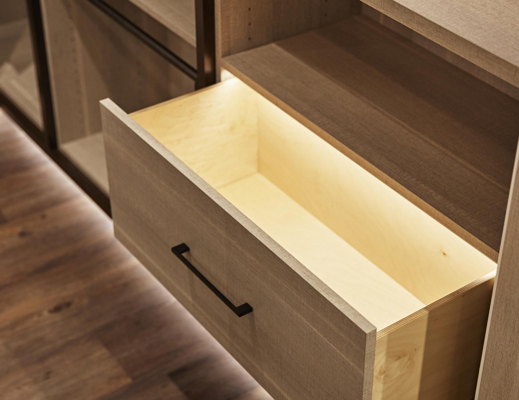 California Closets Boston - Drawer Lighting