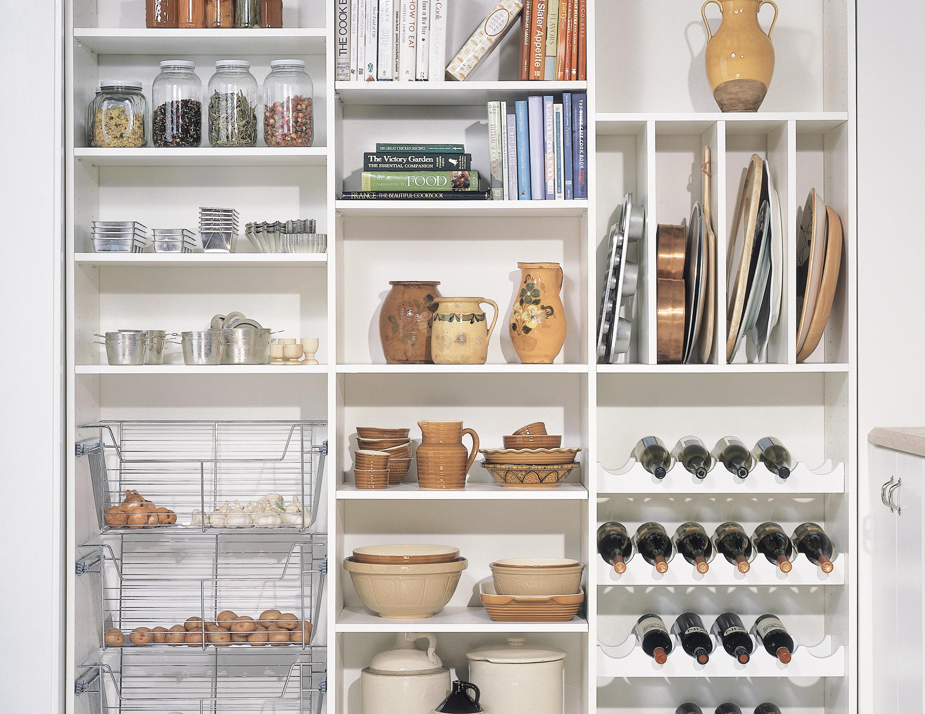 California Closets Madson - Pantry Accessories with Wine Storage