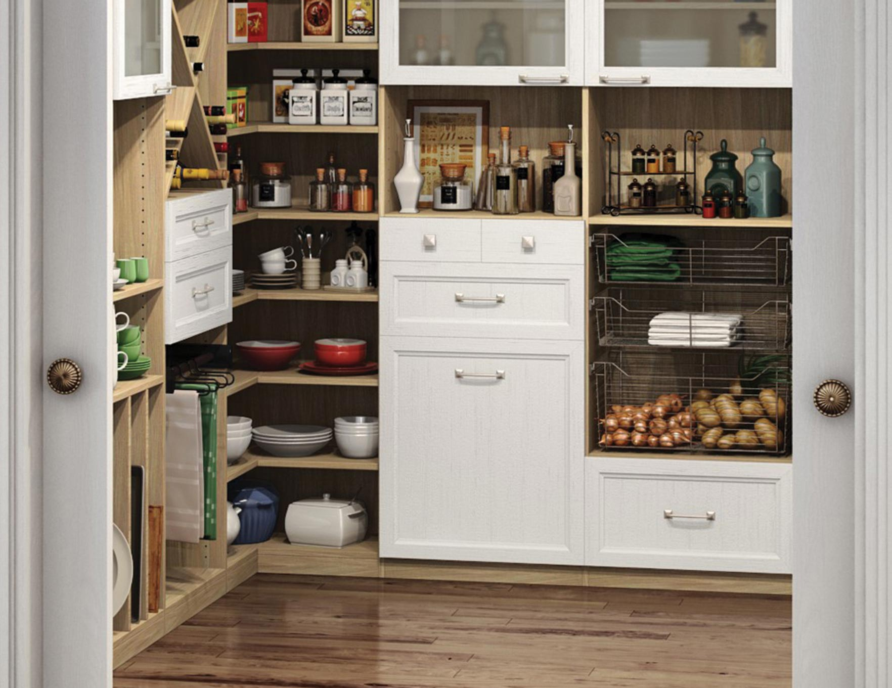 California Closets Detroit - Pantry Accessories Keep You Organized