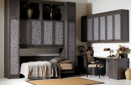 California Closets - Simon Convertible Office with Side Tilt Wall Bed