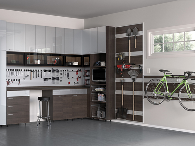 how to organize your garage california closets. Black Bedroom Furniture Sets. Home Design Ideas