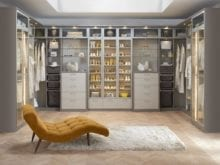 Grey and White Closet With Drawers Closet Rods Glass Fronted Display Cabinets and Built in Lighting