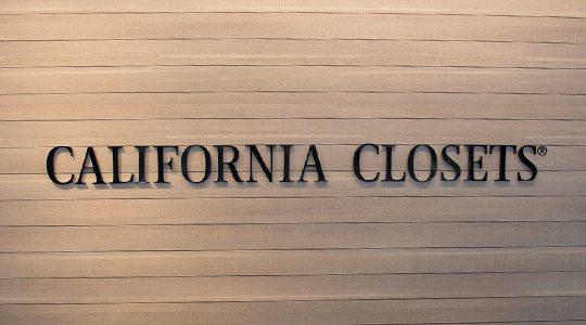 California Closets Logo on Custom Wall