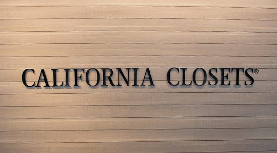 California Closets Logo on Custom Wall