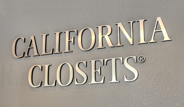 California Closets Logo Display in Showroom