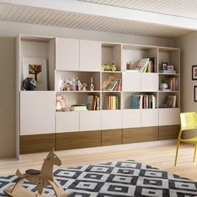 Custom Modern Family Room Storage Design   California Closets