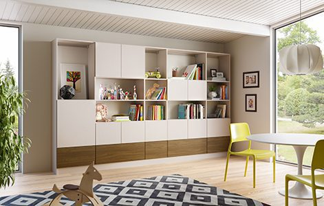 Family room storage living room design ideas by for California closets puerto rico
