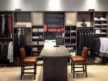 California Closets tailored example of retail store with Milano gray finish