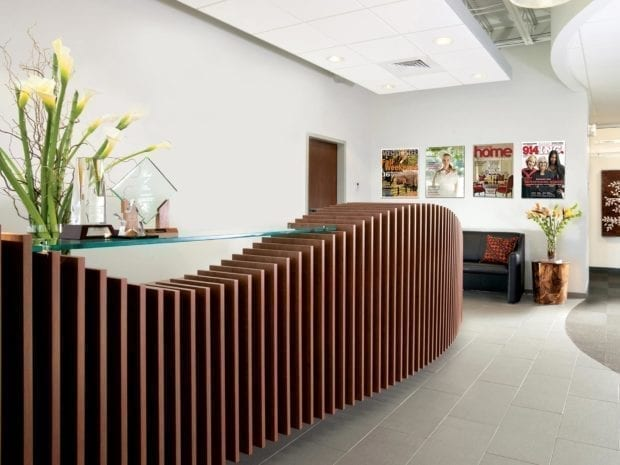 California Closets - Custom Reception Desk