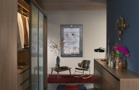 Dark Brown Walk in Closet With Drawers Closet Rods and Wardrobe with Glass Doors
