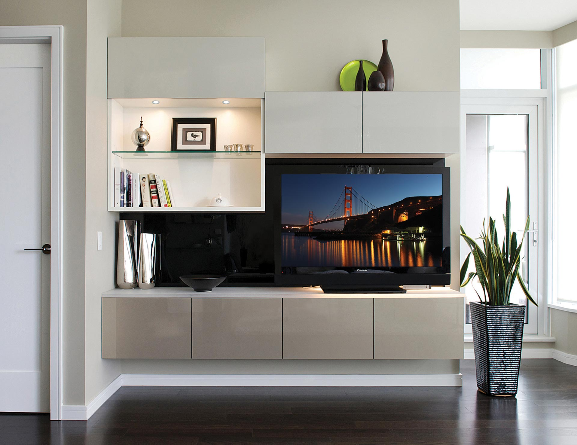 Built-in Entertainment Centers & Media Cabinets | California ...