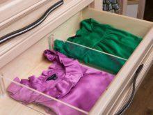 Séparateurs intégrés pour tiroirs et tablettes