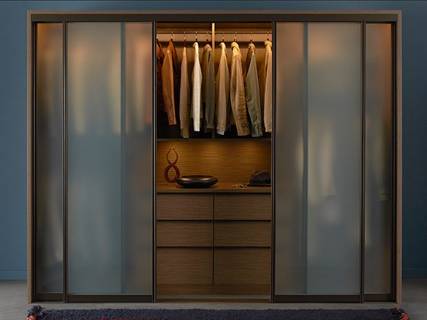 California Closets Boston - Urban Bedroom Wardrobe with Sliding Doors