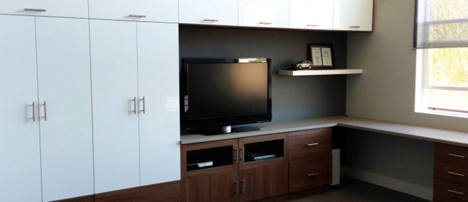 Part Work and Part Play: Creating a Home Office and Entertainment Center in One Space
