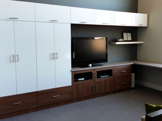 Creating a Home Office and Entertainment Center in One Space