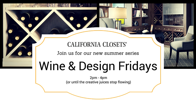 Wine Fridays with California Closets Alberta