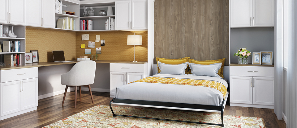 common questions about murphy beds answered california closets. Black Bedroom Furniture Sets. Home Design Ideas
