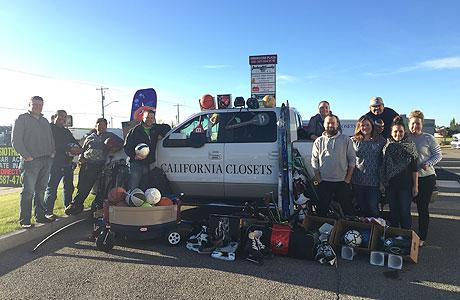 California Closet Sports Equipment Fundraiser