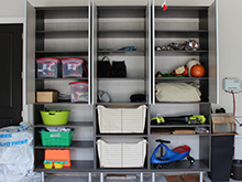 Kapala Family Client Story Dark Brown Shelving Storage System with Stainless Accents