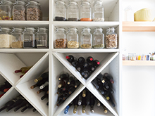 Client Story Apt 34 White Wine Storage Rack with Mason Jar Storage Shelves