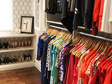 Liberte Chan Client Story Walk In Closet with Clothing Rack and Integrated Shoe Storage