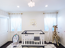 Client Story The Style Editrix Nursery All White Baby Room with White Crib and Accents