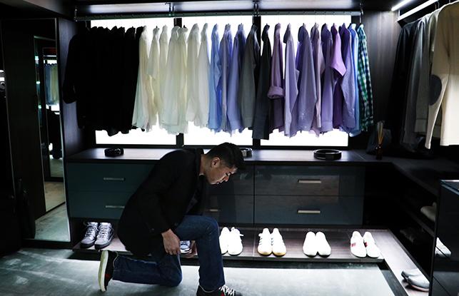 Custom design closet for wayne chang client story for California closets puerto rico