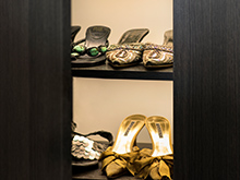 Susan Ferrier Client Story Shoe Storage Solution in Milano Grey Finish