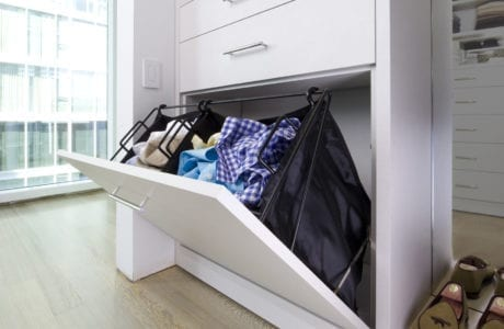 California Closets White Built In Laundry Hamper Palm Springs